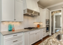 White cabinets with gray quartz top